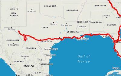 english: Pensacola FL – Van Horn TX