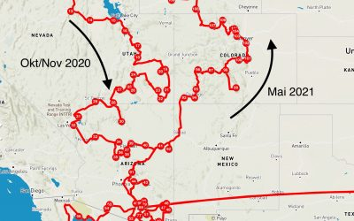 Mai: Tucson Arizona bis Steamboat Springs Colorado